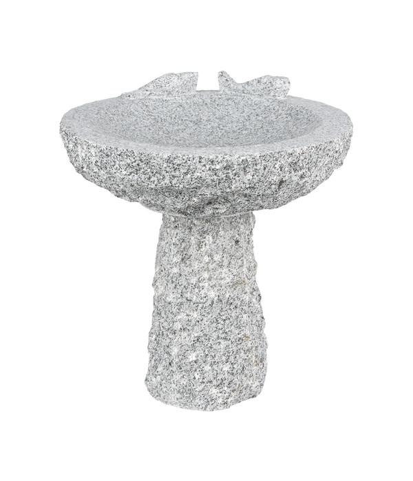 Granit-Vogeltränke mit Sockel, Ø 35 x 40 cm | Dehner