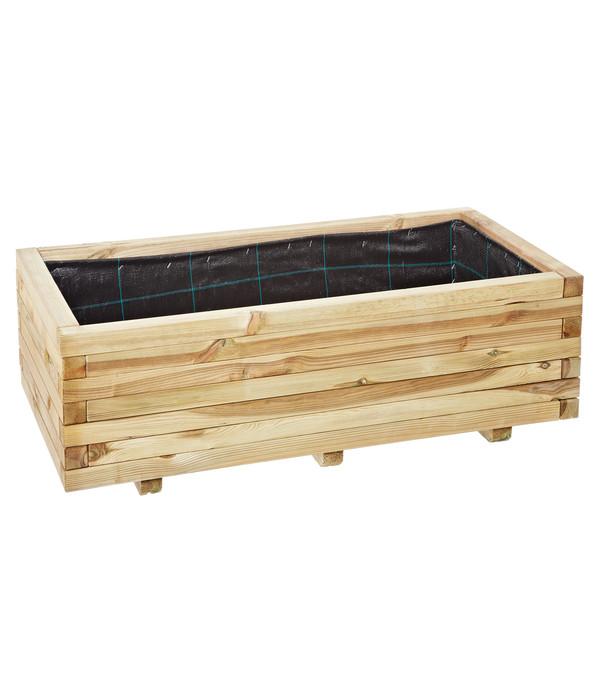 holz blumenkasten oskar 100 x 50 x 35 cm dehner. Black Bedroom Furniture Sets. Home Design Ideas