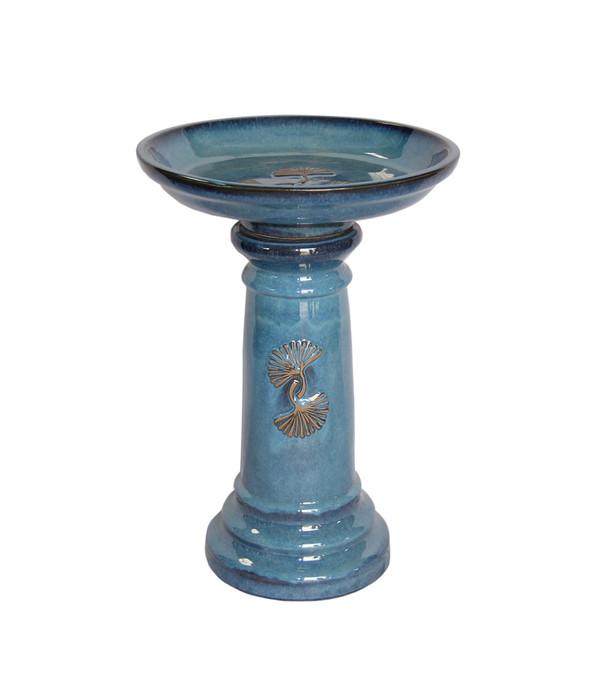Keramik-Vogeltränke, blau glasiert | Dehner