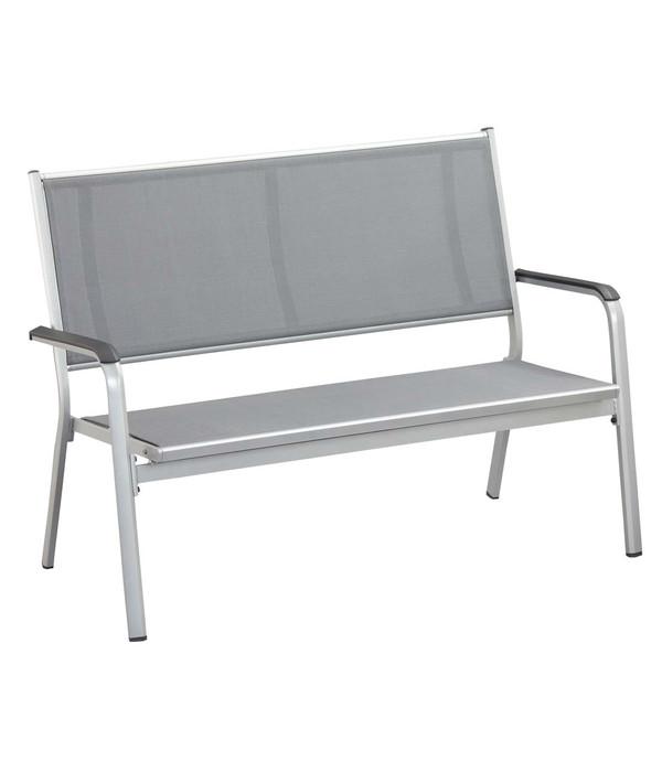 Kettler Bank Friends, 2-Sitzer, silber/anthrazit-grau | Dehner
