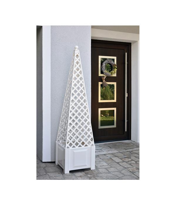 KHW Kunststoff-Pflanzkasten mit Obelisk, inkl. Aufsatz   Dehner