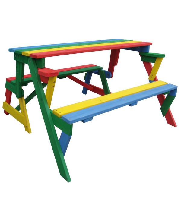 Kinder picknickbank bunt 100 x 50 x 62 cm dehner for Couchtisch 100 x 50