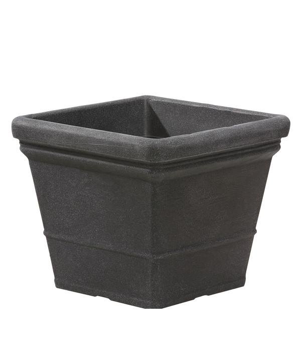 kunststoff blumentopf lisa schwarz granit dehner. Black Bedroom Furniture Sets. Home Design Ideas