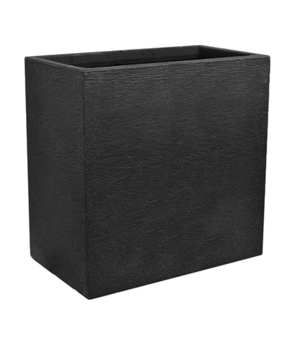 kunststoff pflanzkasten kubus 60 x 26 x 60 cm anthrazit dehner. Black Bedroom Furniture Sets. Home Design Ideas