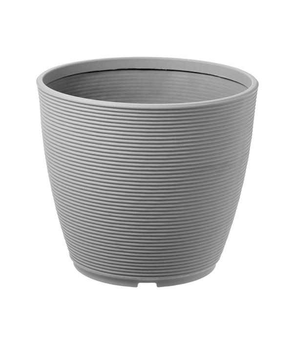 Kunststoff Pflanztopf Urban Ring Grau Dehner