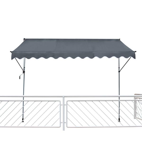 leco klemmmarkise ca 195 x 120 x 200 300 cm anthrazit dehner. Black Bedroom Furniture Sets. Home Design Ideas