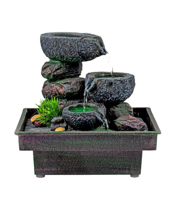 pajoma zimmerbrunnen floating stones dehner. Black Bedroom Furniture Sets. Home Design Ideas