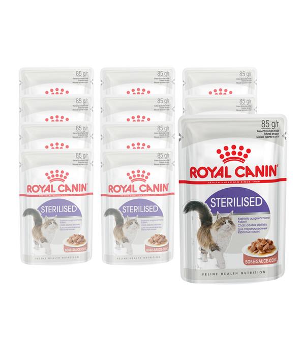 royal canin sterilised nassfutter 12 x 85g dehner. Black Bedroom Furniture Sets. Home Design Ideas