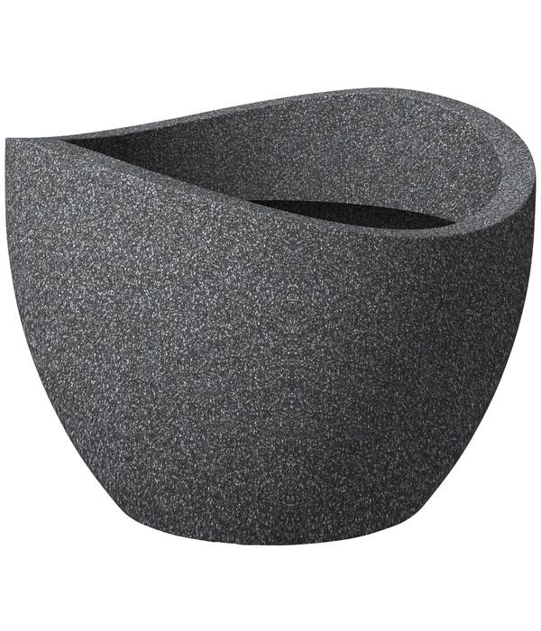 Scheurich Kunststoff-Topf Wave Globe, schwarz-granit | Dehner
