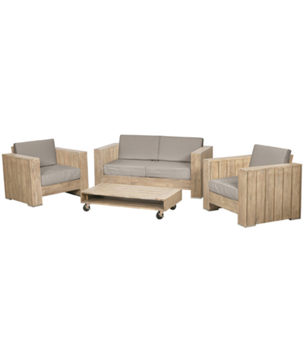 siena garden lounge set halmstad 4 teilig dehner. Black Bedroom Furniture Sets. Home Design Ideas
