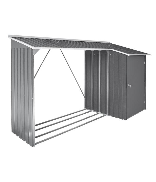 tepro kaminholzregal mit aufbewahrungsschrank ca 272 2 x 108 8 x 160 4 cm dehner. Black Bedroom Furniture Sets. Home Design Ideas