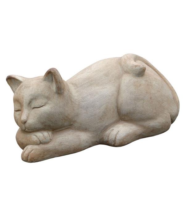Terrakotta katze schlafend 14 x 17 x 32 cm dehner for Terracotta gartendekoration