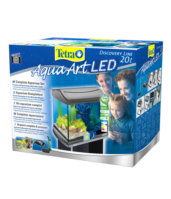 tetra aquaart led aquarium set 20 liter anthrazit dehner. Black Bedroom Furniture Sets. Home Design Ideas