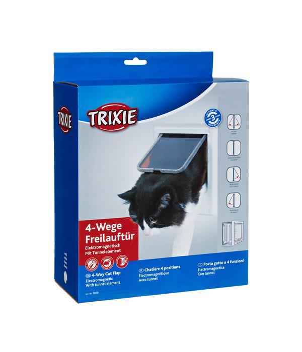 trixie katzenklappe 4 wege freilauft r elektromagnetisch 15 8 x 14 7 cm dehner. Black Bedroom Furniture Sets. Home Design Ideas