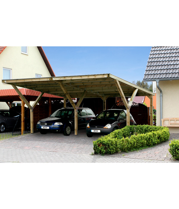 weka doppelcarport mit kunststoffdach dehner. Black Bedroom Furniture Sets. Home Design Ideas