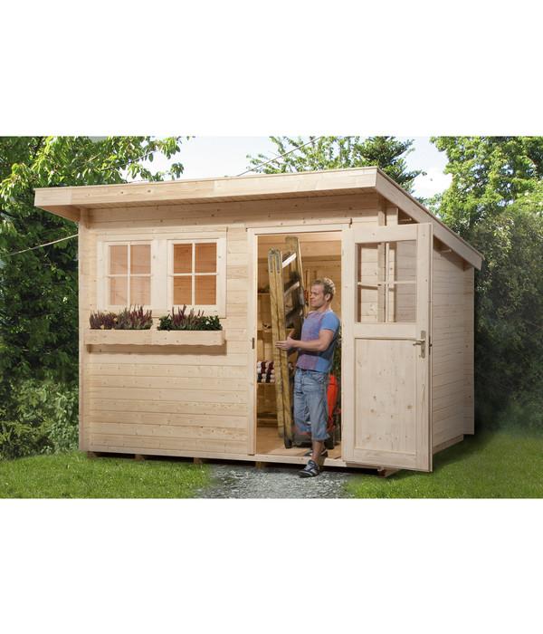 weka gartenhaus 116 gr 2 dehner. Black Bedroom Furniture Sets. Home Design Ideas