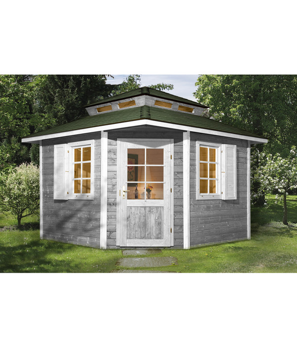 gartenhaus 5 eck amazing xcm holzhaus bausatz mm doppeltr with gartenhaus 5 eck excellent eck. Black Bedroom Furniture Sets. Home Design Ideas