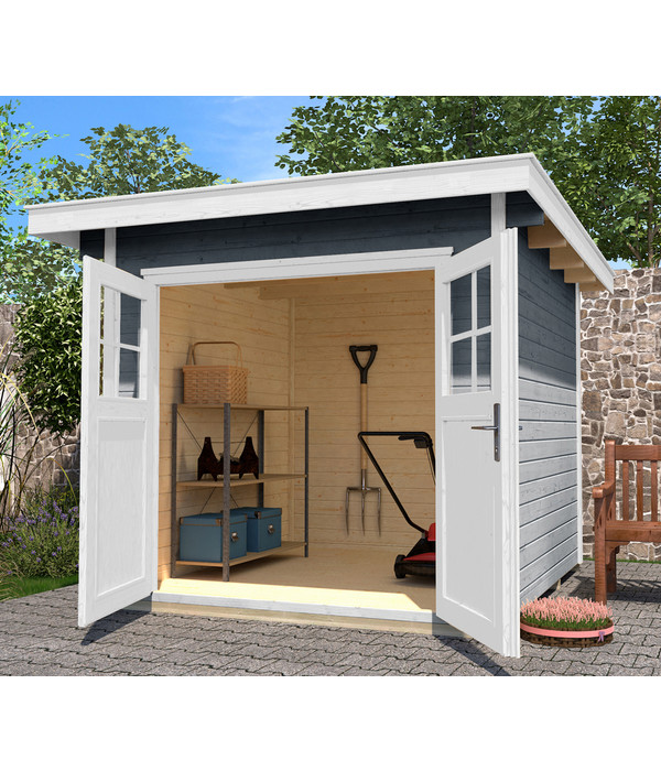 weka gartenhaus 179 gr 3 dehner. Black Bedroom Furniture Sets. Home Design Ideas