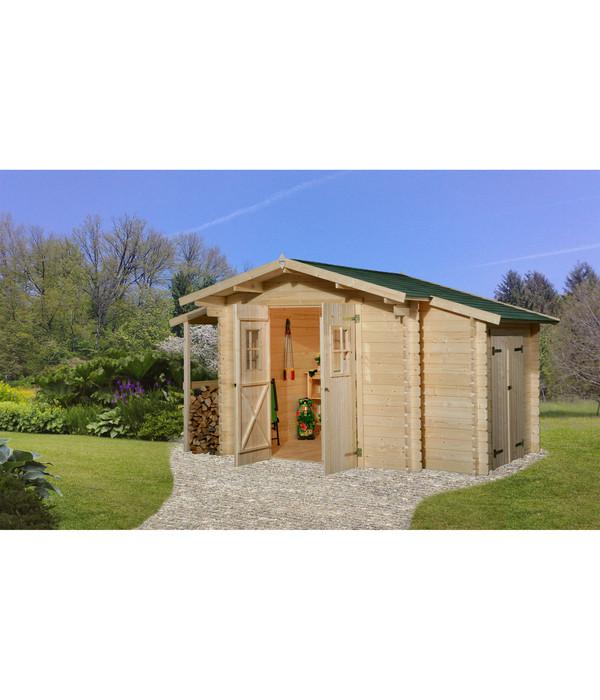 Weka Gartenhaus 209, mit Schleppdach und Anbauschrank | Dehner