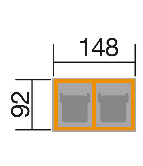 weka m lltonnenbox f r 2 tonnen dehner. Black Bedroom Furniture Sets. Home Design Ideas