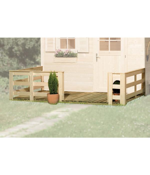 weka terrasse f r gartenhaus 122 123 dehner. Black Bedroom Furniture Sets. Home Design Ideas