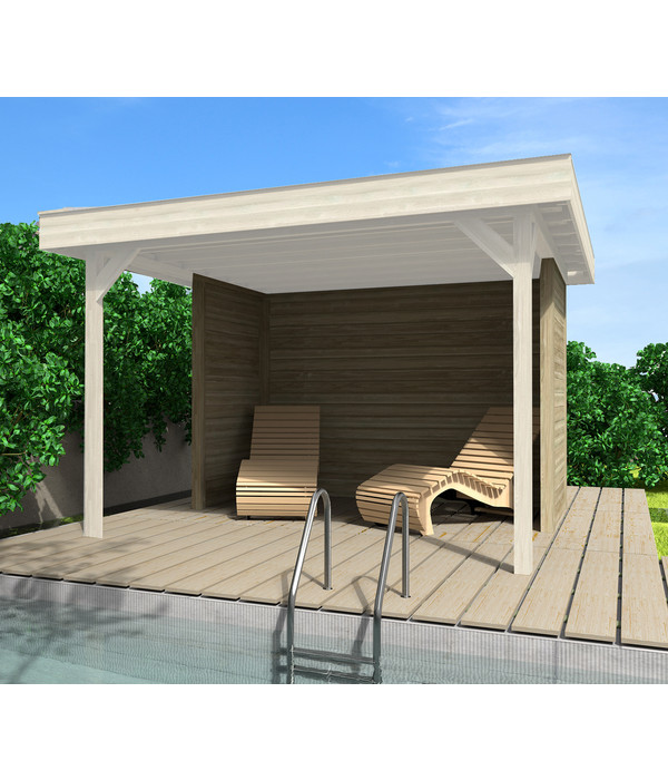 weka wandset f r gartenlaube 657 dehner. Black Bedroom Furniture Sets. Home Design Ideas