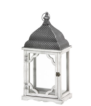 Laterne XL Metall Glaseinsätze Dekofach Herbst Winter Haus Garten H.105 cm