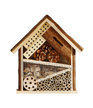 Tannenholz//Bambus//Sperrholz Dehner Natura Insektenhotel Nomada 29.5 x 9.5 x 28.5 cm Kiefern- ca natur