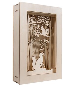 Katalog Weihnachtsdeko.Rayher Holzbausatz 3d Motivrahmen Wald 20 X 30 X 6 6 Cm 15 Teilig
