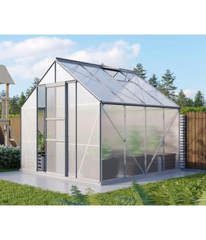 Lamellenwandfenster ESG für Vitavia Gewächshaus silber